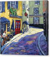 Resto Le Cochon Dingue  In Old Quebec Canvas Print