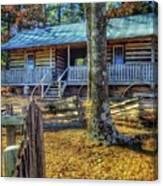 Restored Log Cabin Canvas Print