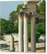 Restored Roman Columns In Glanum Canvas Print