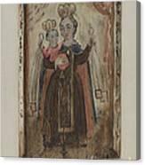 Retablo (our Lady Of Carmel) Canvas Print