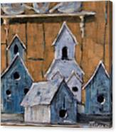 Retired Bird Houses By Prankearts Fine Arts Canvas Print