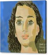Retrato De Mi Hija M. Jose Canvas Print