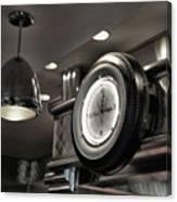Retro 50's Clock Restaurant  Canvas Print