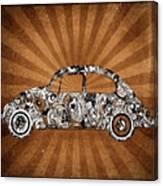 Retro Beetle Car Canvas Print