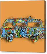 Retro Camper Van 2 Canvas Print