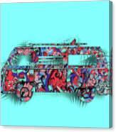 Retro Camper Van 3 Canvas Print