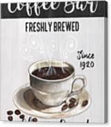 Retro Coffee Shop 2 Canvas Print