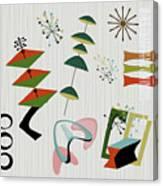 Retro Mid Century Modern Atomic Inspired Canvas Print