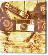 Retro Film Cameras Canvas Print