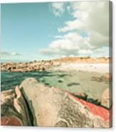Retro Filtered Beach Background Canvas Print