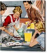 Retro Home Canvas Print