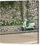 Retro Italian Scooter Canvas Print