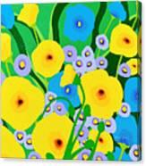 Retro Meadow Canvas Print