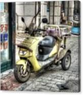 Retro Moped Canvas Print