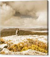Retro Mountaintop Views Canvas Print