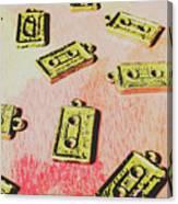 Retro Music Tapes Canvas Print