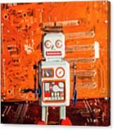 Retro Robotic Nostalgia Canvas Print