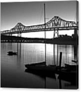 Retro San Francisco Oakland Bay Bridge Canvas Print