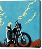 Retro Scrambler Motorbike Canvas Print