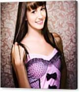 Retro Showgirl Canvas Print