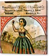 Retro Tobacco Label 1868 C Canvas Print