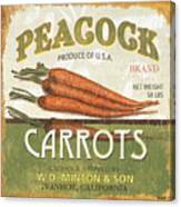 Retro Veggie Label 2 Canvas Print