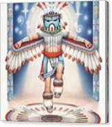 Return Of The Blue Star Kachina Canvas Print