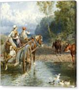 Returning From Market Canvas Print