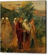 Returning From The Burial Of Christ Canvas Print
