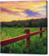 Retzer Nature Center - Sunset Over Field Canvas Print