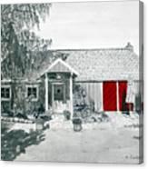Retzlaff Winery With Red Door No. 2 Canvas Print