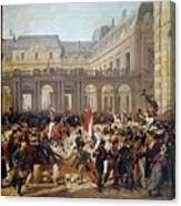 Revolution Of 1830 Departure Of King Louis-philippe For The Paris Townhall Horace Vernet Canvas Print