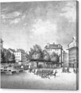 Revolution Of Geneva 1846 Place Bel-air Canvas Print