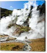 Reykjadalur Geothermal Area In Iceland Canvas Print