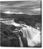 Reykjafoss Waterfall Iceland 3996 Canvas Print