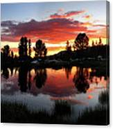 Reymann Lake Sunset - Yosemite Canvas Print