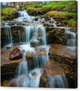 Reynolds Mountain Waterfall Canvas Print