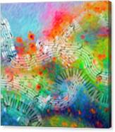 Rhapsody In Blue, And Red, And Green Canvas Print
