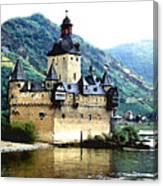 Rhine River Castle Canvas Print