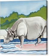 Rhino In La Canvas Print