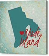 Rhode Island Anchors Canvas Print