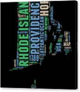 Rhode Island Word Cloud 2 Canvas Print