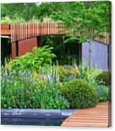 Rhs Chelsea Homebase Urban Retreat Garden Canvas Print