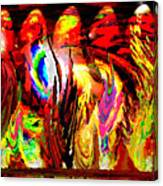 Rhythm Of The Dancing Fires Canvas Print