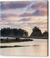 Rialto Beach Sunset On The Pacific Coast In Washington Canvas Print