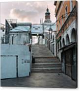 Rialto Bridge In The Morning Canvas Print