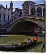 Rialto Bridge In Venice Italy Canvas Print