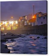 Ribeira Grande At Night Canvas Print