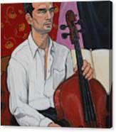 Ricardo With Cello Canvas Print