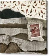 Rice Paddies Collage Canvas Print